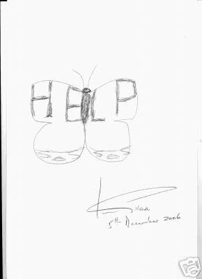Gillan's drawing for Dorset Wildlife Trust auction