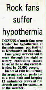 Knebworth - a local newspaper report