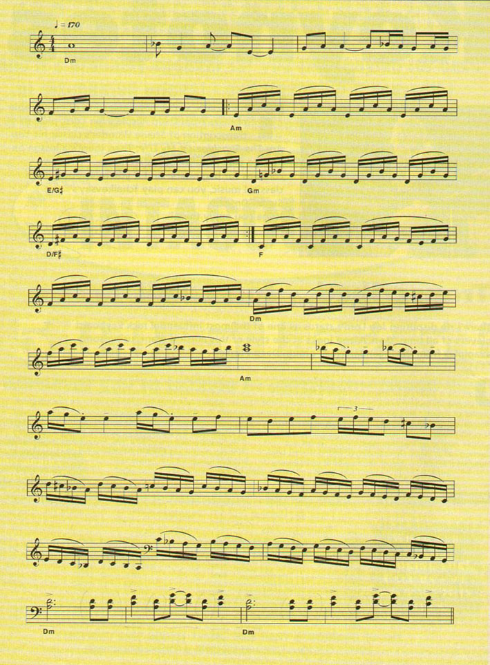 Keyboard solo (from Keyboard Keynotes review, issue 139, July 1997) : Butler
