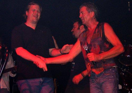 Jeff Healey with IG. Toronto, Aug 17, 2006. Photo: Nick Soveiko.