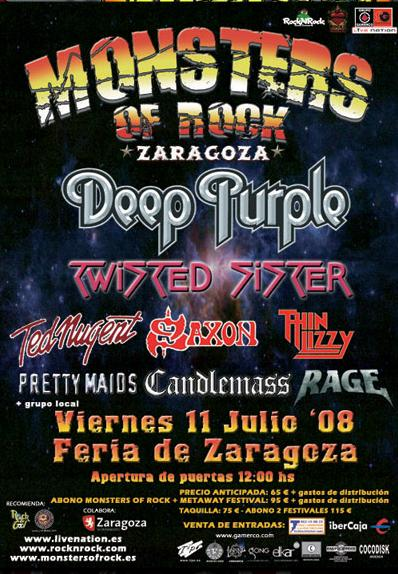 Monsters Of Rock 2008 poster