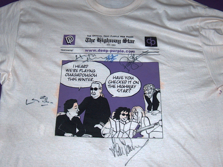 THS t-shirt autographed Istanbul 2009