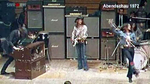 JL, RG and IG on stage at the Böblingen Sporthalle Feb 10, 1972