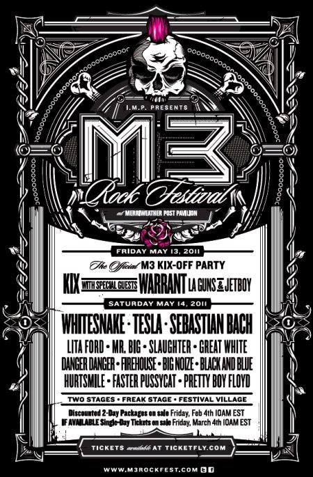 M3 Rock Festival 2011 poster