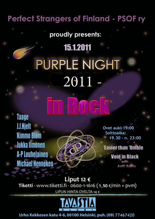 Purple Night 2011 poster; image courtesy of PSoF