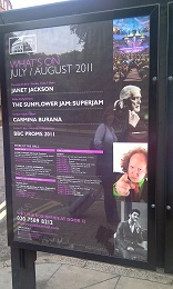 Poster outside the Albert Hall