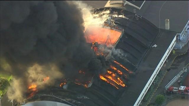 KB Hallen on fire