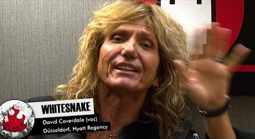 David Coverdale being interviewed for rheinhaus.com