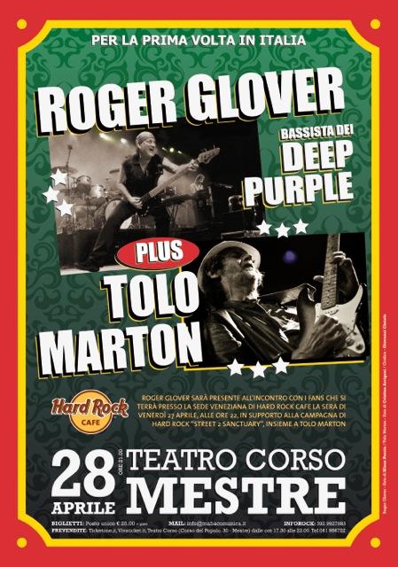 Roger Glover + Tolo Marton Apr 28 2012 gig flyer