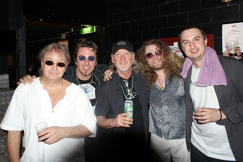 Ian Paice and Roger Glover with members of Purpendicular; photo courtesy of Seher Cosgun