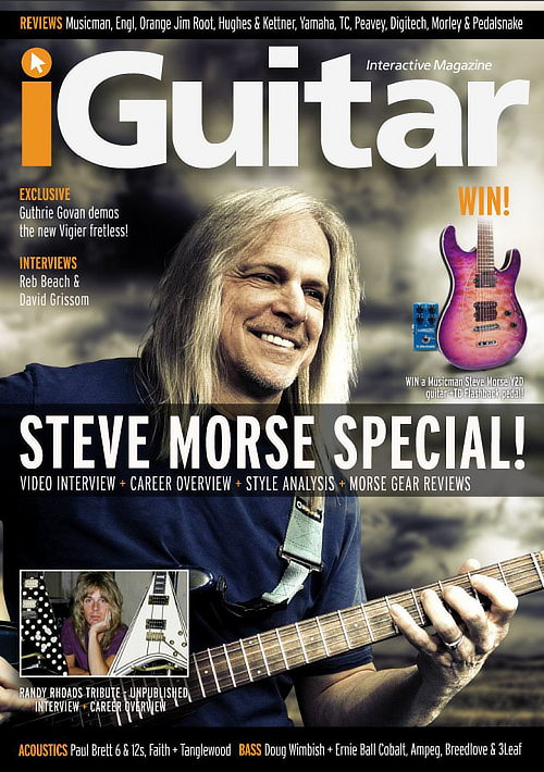 Steve Morse: iGuitar issue 9 cover; used under fair dealing concept (news reporting)