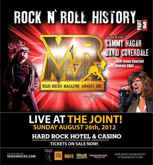 Vegas Rocks! awards poster