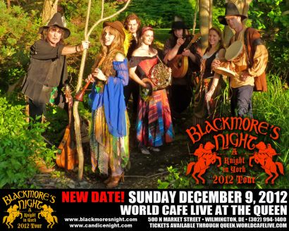 Blackmore's Night in Delaware, Dec 9 2012, flyer