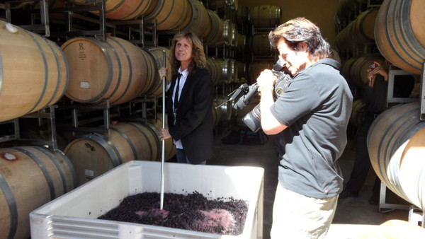 David Coverdale making wine; image courtesy of NovatoPatch http://novato.patch.com/