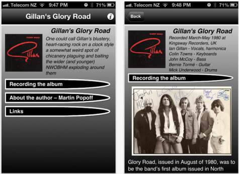 Gillan Glory Road ebook; image courtesy of Martin Popoff