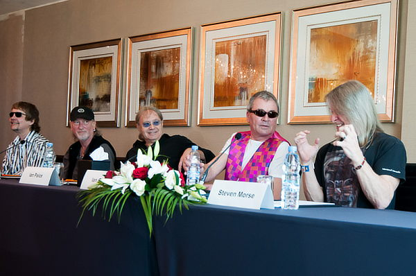 Deep Purple at a press conference in Dubai, February 2013; Photo © Explorer Publishing