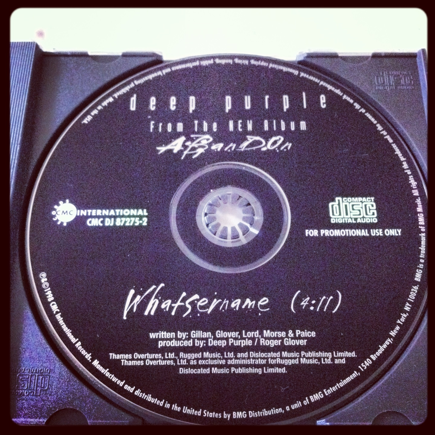 Whatsername promo single.