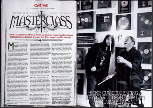Matt Oliver interviews Ian Paice for Metal Hammer