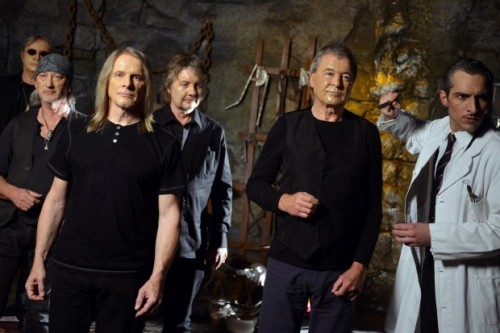 Deep Purple shooting promo video for Vincent Price in Berlin Dungeon