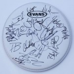 Drum head signed by GH