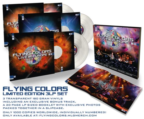 Flying Colors Live in Europe 3LP_Pack; image courtesy of Mascot records