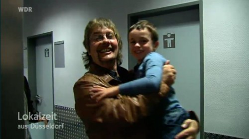 Don Airey with his grandson