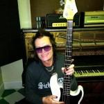 Glenn Hughes in the studio, December 2013; photo courtesy of GlennHughes.com