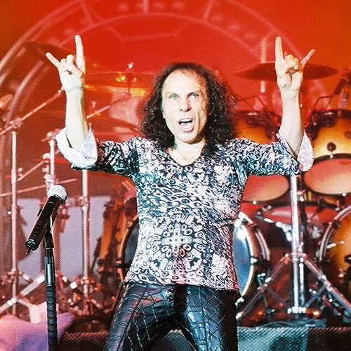 Ronnie James Dio, Big Flats NY, June 29 2002 photo &copy Nick Soveiko cc-by-nc-sa