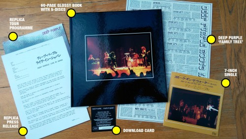 Made in Japan 2014 4CD+DVD package contents