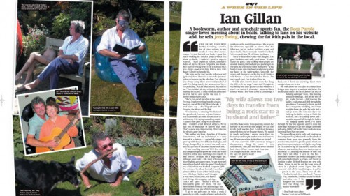 "Classic Rock ""A week in the life of Ian Gillan"" spread"