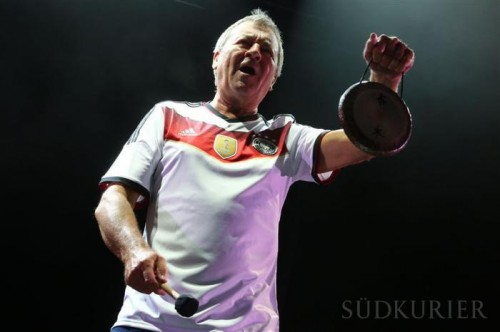 Ian Gillan at the Hohentwiel Festival in Singen, July 21, 2014; photo: SÜDKURIER