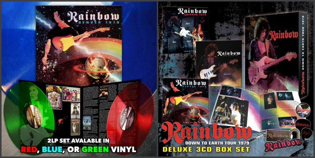 Rainbow'79 live releases; image courtesy of Cleopatra Records