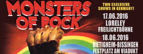 Monsters of Rock 2016 banner