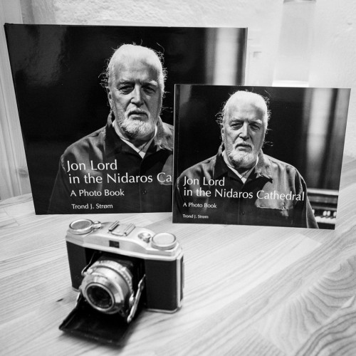 Jon Lord in the Nidaros Cathedral, phot book by Trond J. Strøm