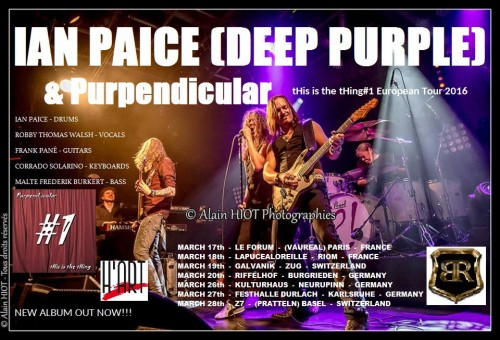 Ian Paice + Purpendicular, March 2016 tour poster