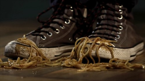 """The """"spaghetti incident"""" -- screenshot from The Ritchie Blackmore Story documentary"""