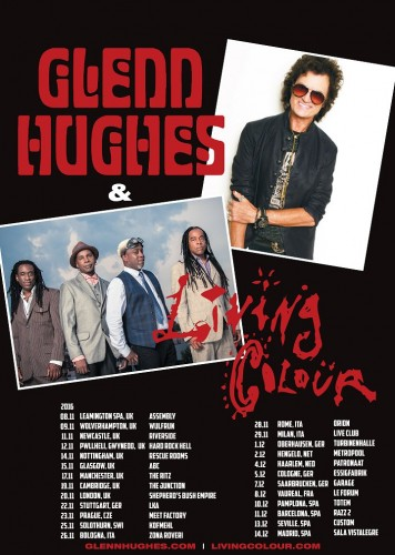 Glenn Hughes Euro 2016 tour flyer