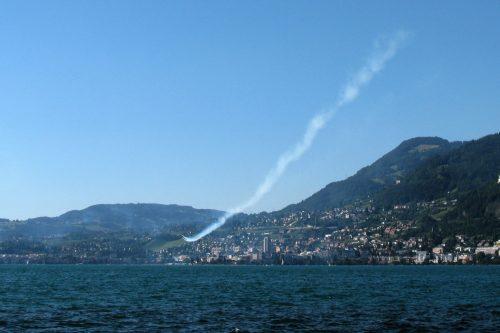 Lake Geneva flyby; photo © 2016 Axel Dauer