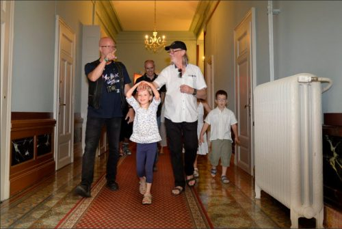 Roger Glover touring the Grand Hotel; photo: Chantal Dervey