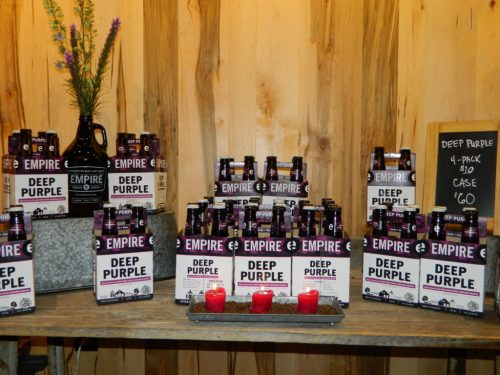 Deep Purple beer; photo courtesy of Eagle News Online