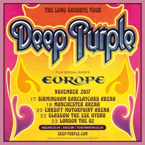 deep purple long goodbye tour poster
