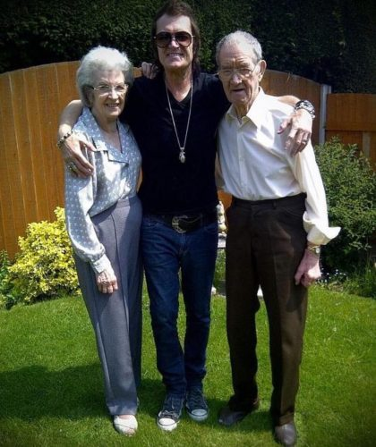 Glenn Hughes and his parents