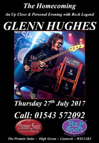 Glenn Hughes in Cannock flyer, 2017-07-27