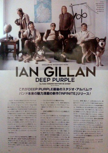 ian Gillan's interview in Burrn! magazine, May 2017