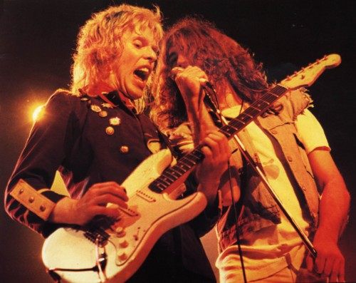 Bernie Torme and Ian Gillan; image courtesy of bernietorme.co.uk