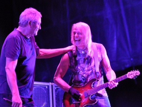 Ian Gillan and Steve Morse enjoying Bluesfest; Ottawa, July 18 2015; photo © Nick Soveiko cc-by-nc-sa