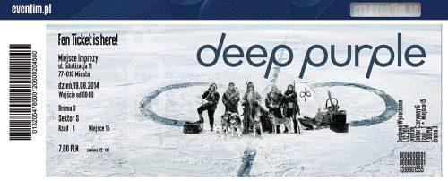 Deep Purple 2018 souvenir ticket