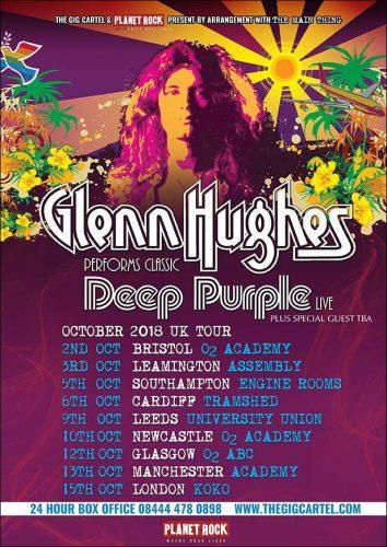 Glenn Hughes UK'2018 tour flyer