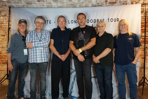 PSOF president Jari Kaikkonen with Deep Purple