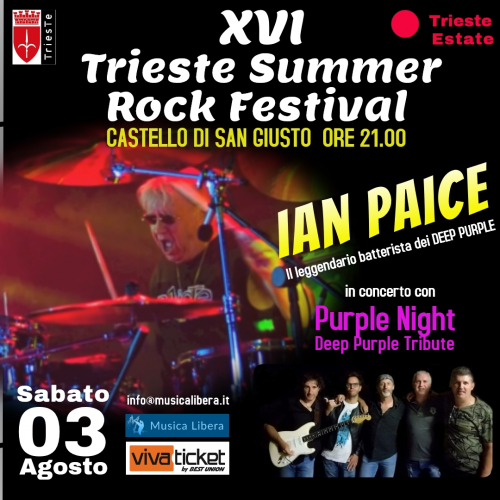 Ian Paice in Trieste 2019-08-03 flyer